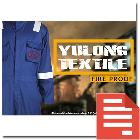 yulong textile fire proof workwear