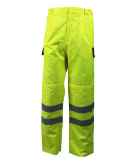 fluorescent yellow water repellent trousers