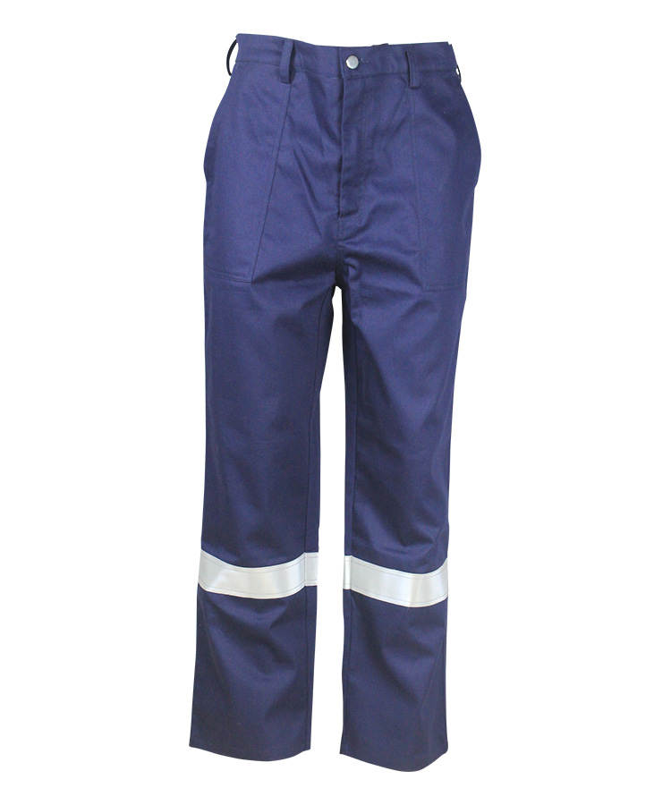 navy blue arc poof pants