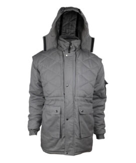 Grey Color Winter Cotton Fireproof Jacket