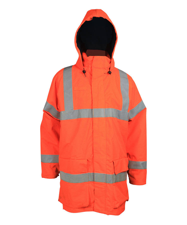 High Visibility Orange Anti-Static Jacket