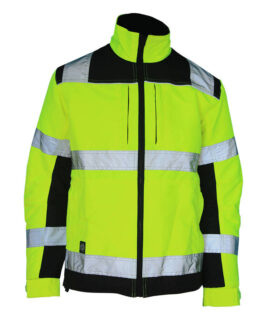 High-Visibility Yellow Black Jacket