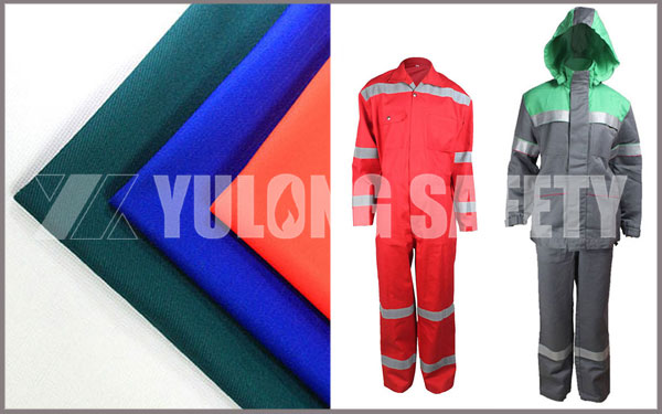 Europe Client Visited and Ordered Flame Retardant Fabric and Flame Retardant Clothing