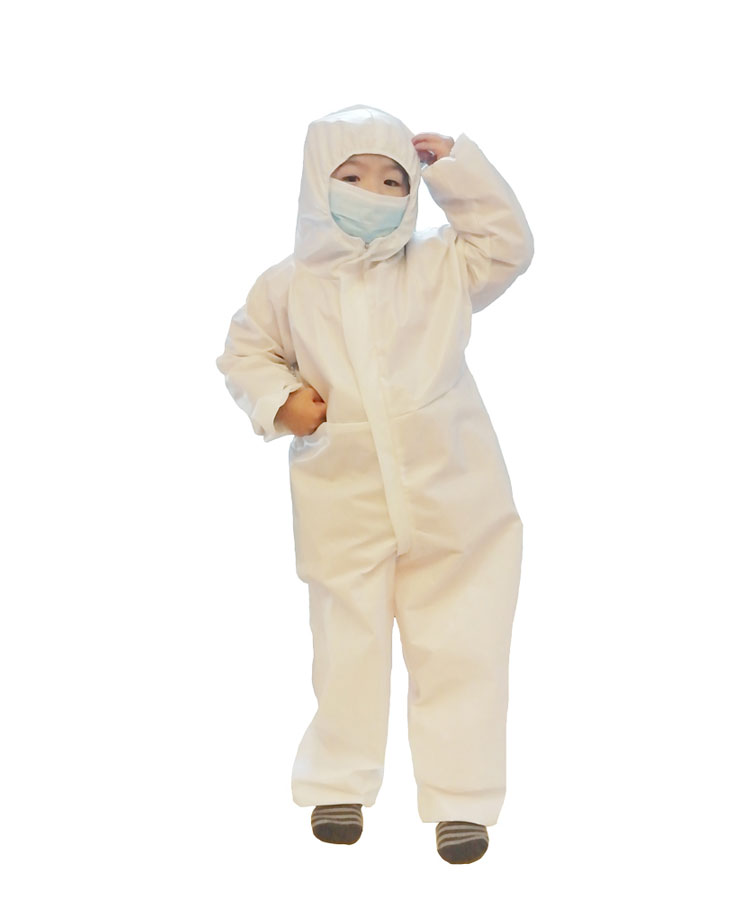 Non-Woven PPE Didposable Protective Coverall Isolation Clothing for Kids
