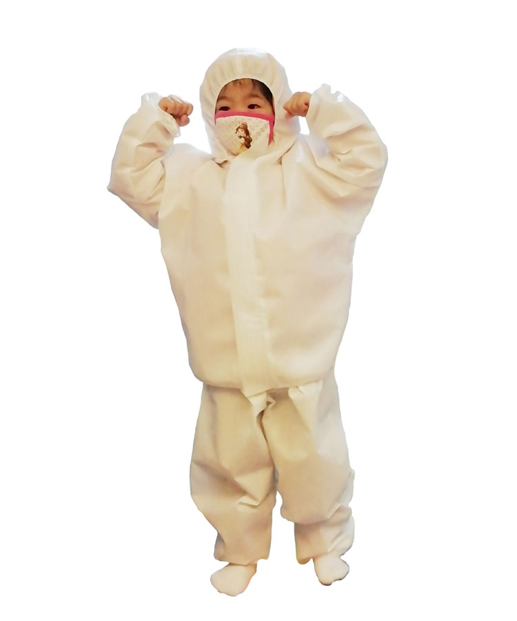 disposable safety child protective isolation suit