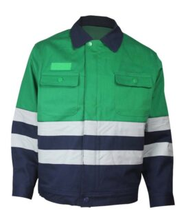 Anti Insects Jacket in Green with Navy Color