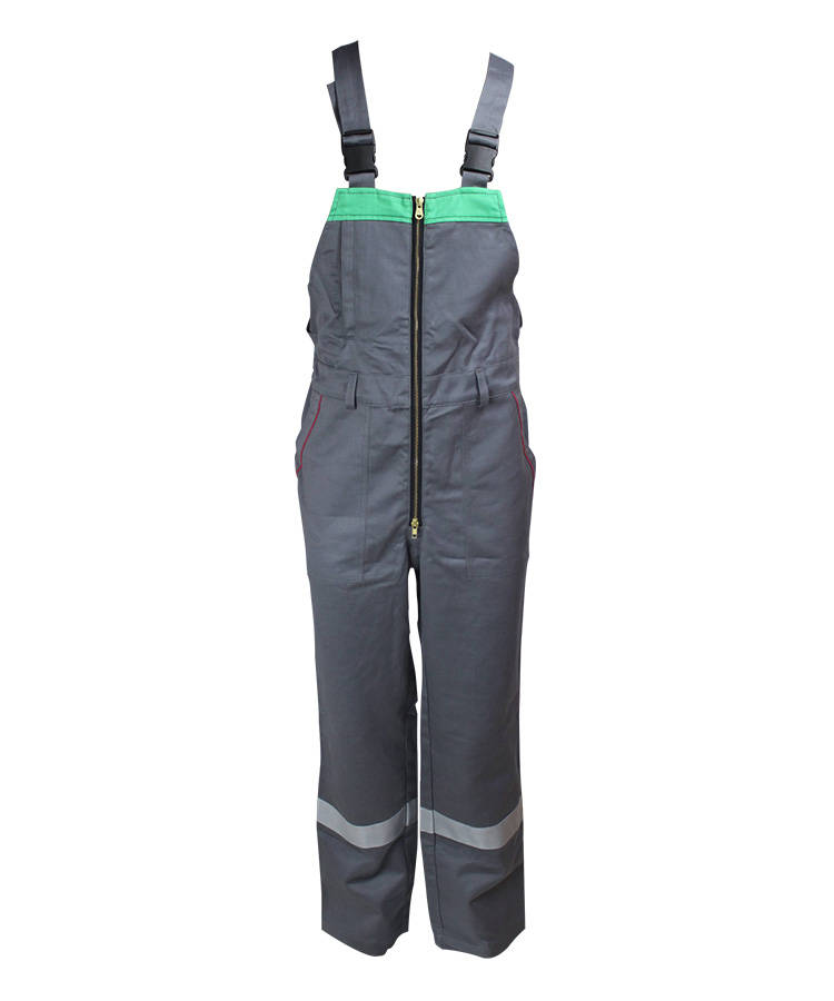 Gray Anti Chemical Liquid Bib Pants
