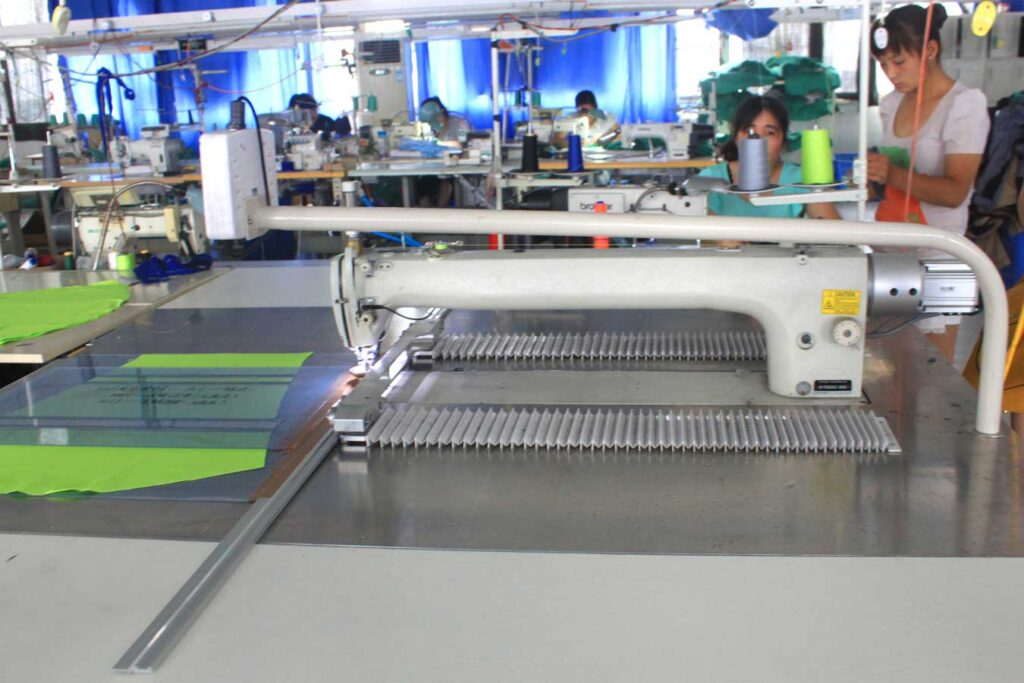 automatic template sewing machine