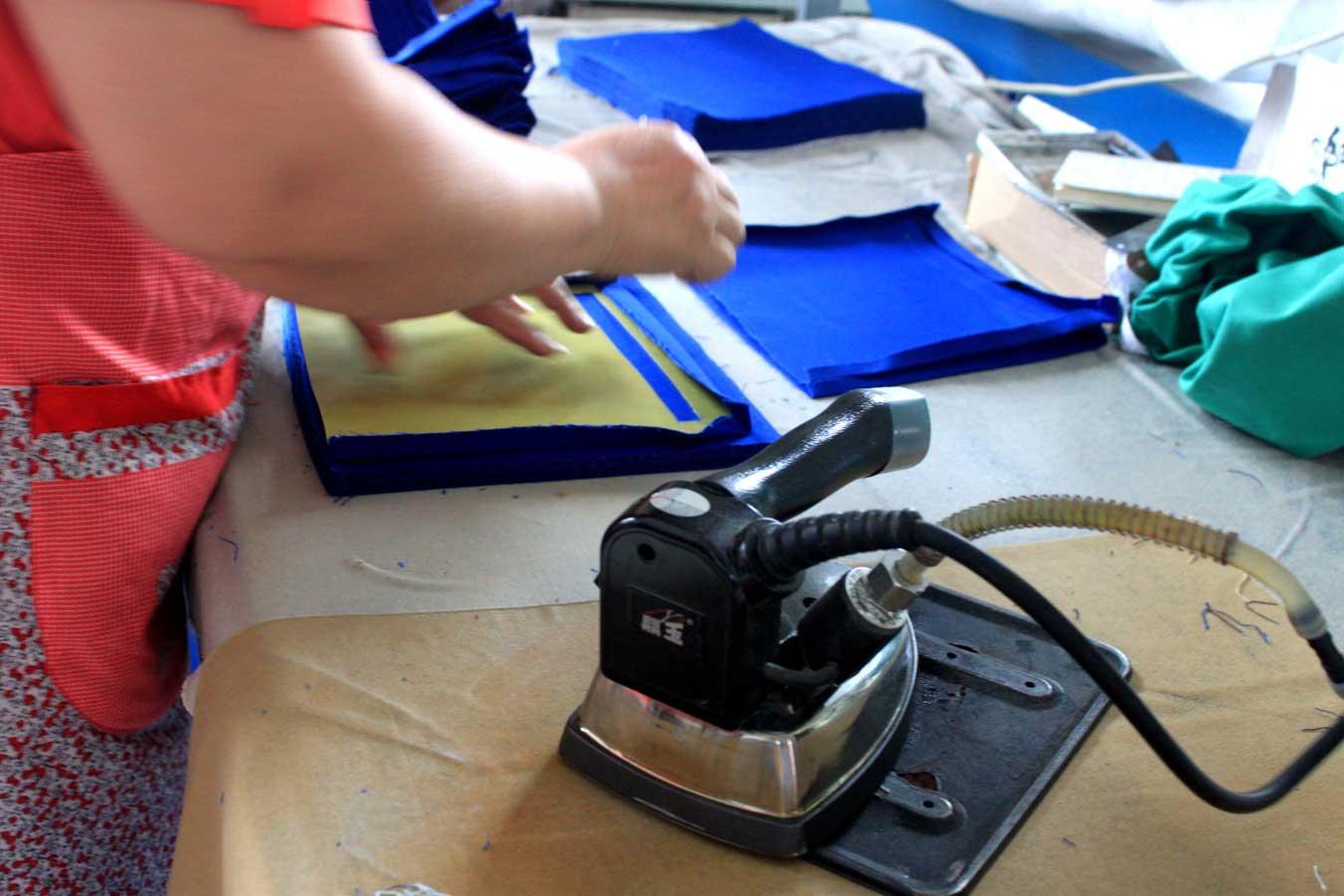 cut-parts ironing