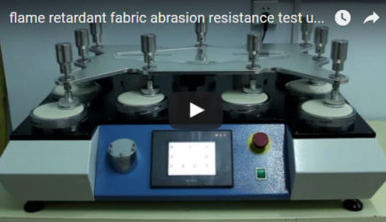 flame retardant fabric abrasion resistance test