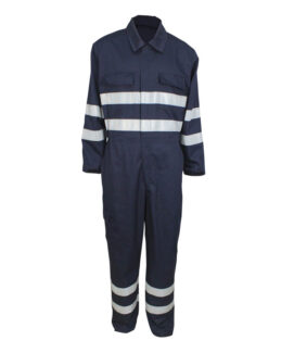 Blue Aramid IIIA Antistatic Fireproof Welding Coverall