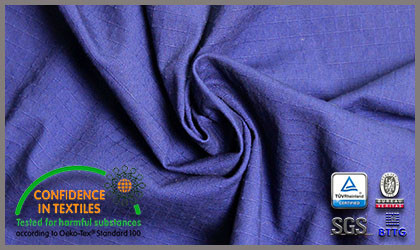 The Cotton Flame-Retardant Anti-Static Fabric