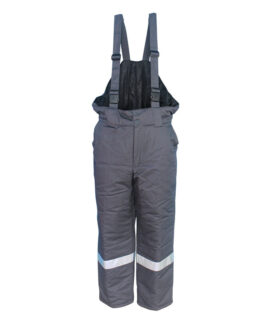 anti arc grey color padded bib overalls