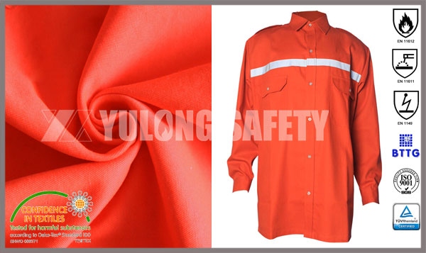 The Flame Retardant Anti-Static Shirt Made by Yulong Textile is on Sales