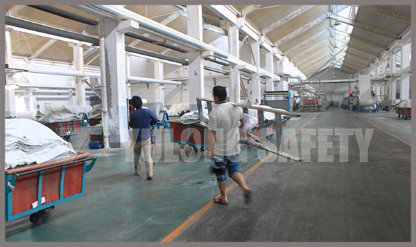 Near the Flood, Yulong Textile factory Perform Safety Investigation Work