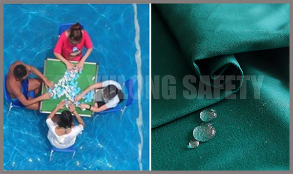 Please do not ignore UV hazard when you playing mahjong in the water