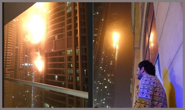 Huge Fire Engulfs 79-Story Residential Tower in Dubai
