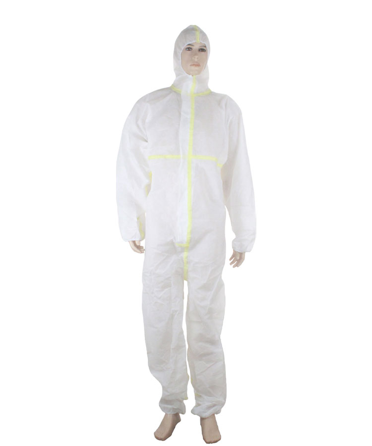 medical isolation disposable protective coverall