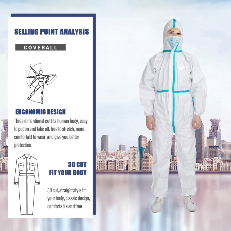 isolation protective coverall